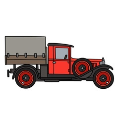 Vintage red truck vector