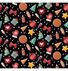 Winter christmas seamless pattern Flat designed vector image