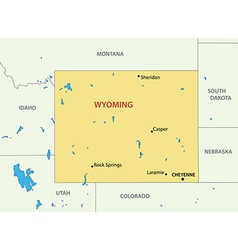 Wyoming - map vector image vector image