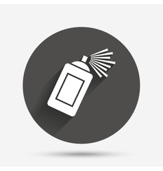 Graffiti spray can sign icon aerosol paint vector