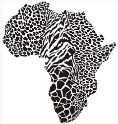 Black of continent as a animal skin vector image
