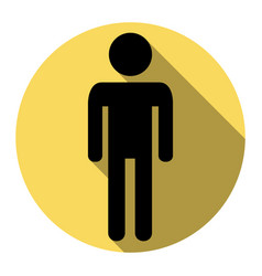 Man sign   flat black icon vector