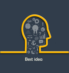 concept of big and best ideas vector image