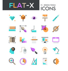 Collection of 25 modern multicolored pictograms in vector