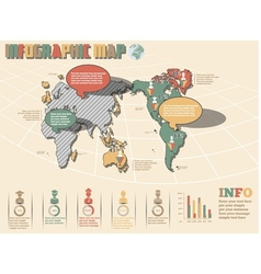 World map infographics 2 new style vector