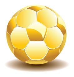 Golden soccer ball vector
