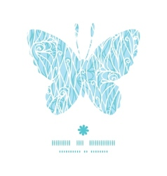 Abstract frost swirls texture butterfly silhouette vector