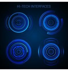 Futuristic hud interface vector