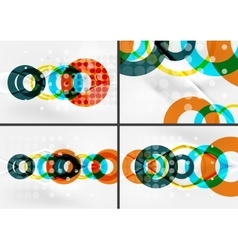 Set of circle shape design abstract backgrounds vector