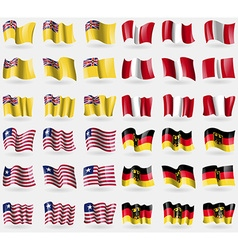 Niue peru liberia germany set of 36 flags of the vector