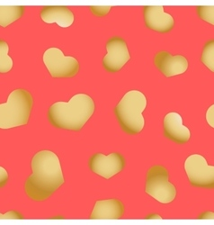 Seamless pattern with hearts beautiful vector