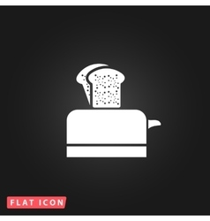 Toaster flat icon vector