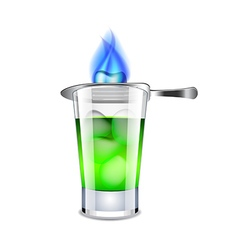 Absinthe isolated on white vector