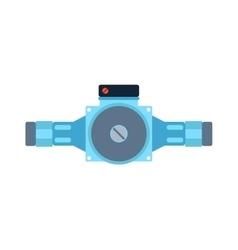 Pressure sensor tool on factory pipeline vector