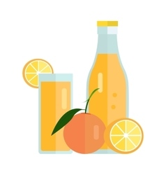 Orange juice concept vector