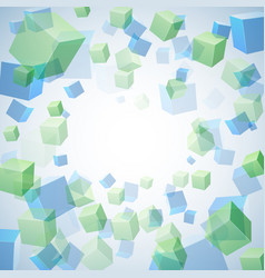 abstract background with cubes vector image vector image