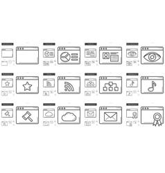 Application line icon set vector
