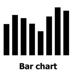 Bar chart icon simple style vector