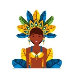 Beautiful carnival dancer character vector