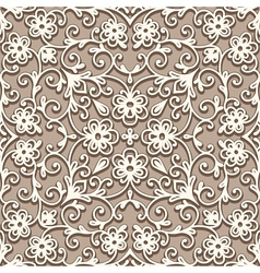 Beige seamless pattern vector