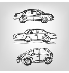 car sketches vector image