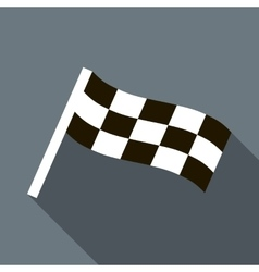 Chequered flag motor icon in flat style vector