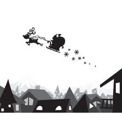 christmas city wallpaper vector image