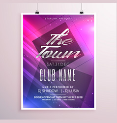 Colorful music party flyer poster template with vector