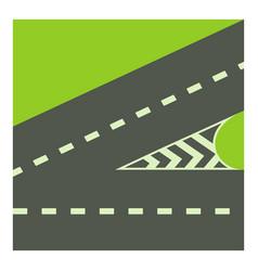Crossroads icon cartoon style vector