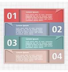 Design Template with Four Speech Bubbles vector image