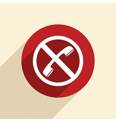 forbidden to use phone vector image vector image