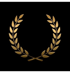 gold award laurel wreath vector image