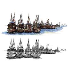 Halong Bay Vietnam vector image vector image
