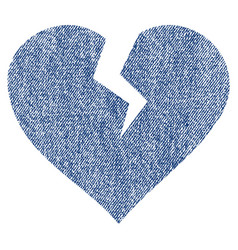 Heart break fabric textured icon vector