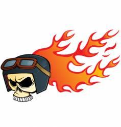 helmet skull vector image vector image
