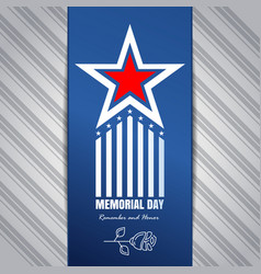 Memorial day concept design remember and honor vector
