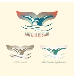 Modern abstract swimming logo vector