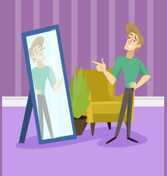 Narcissistic modern prince funny young man vector