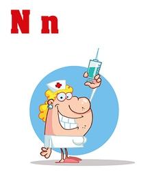 Nurse cartoon vector image vector image