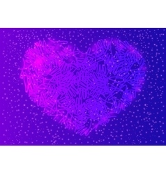 People colorful hands united together in heart vector image vector image