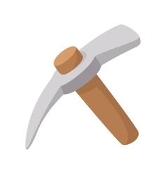 Pickaxe cartoon icon vector