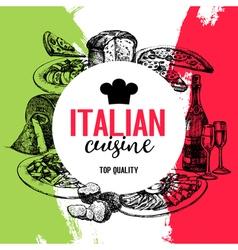 Restaurant italian cuisine menu design vintage vector
