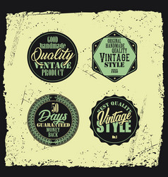Retro styled badges set with grunge background vector