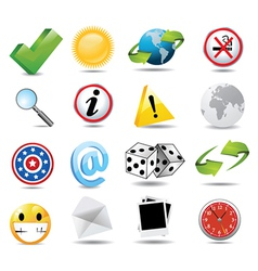 Set of miscellaneous icons vector