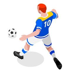 Soccer striker 2016 sports 3d isometric vector