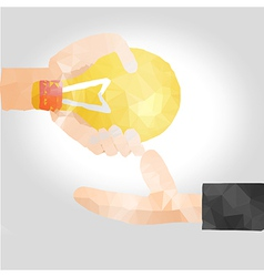 solution idea concept vector image