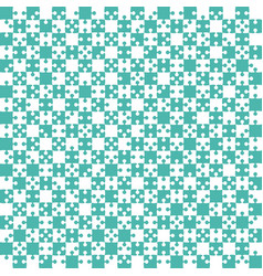 Teal puzzle pieces jigsaw - - field chess vector