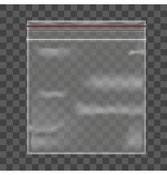 Template blank transparent package vector