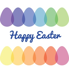 Transparent Easter eggs vector image vector image