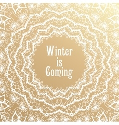 Winter is coming lettering golden congratulations vector